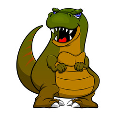 Baby Tyrannosaurus standing Cartoon Vector
