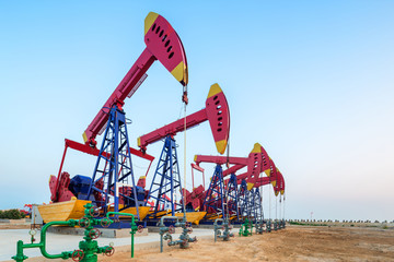 oilfield with pump units