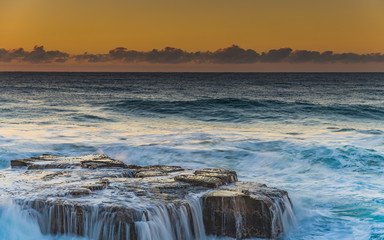 Sunrise Seascape and Cascades