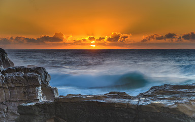 Bold Orange Sunrise Seascape