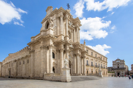 The Cathedral (Duomo) in Syracuse, Sicily, Italy