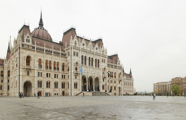 Budapest, Hungary - 17 April 2018: The building of the Hungarian Parliament.