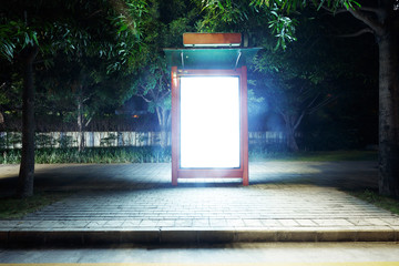 telephone booth of a modern city at night