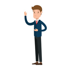 businessman sad avatar character vector illustration design