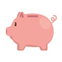 piggy savings economy icon vector illustration design