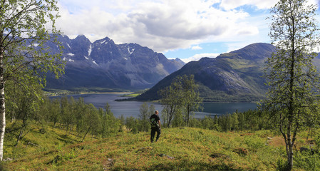 Mountain trip to Stordalsvatnet in Troms