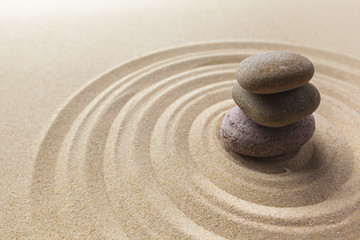 Poster Stones in Sand zen garden meditation stone background