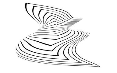 black and white stripe line abstract graphic optical art background