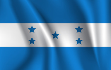 Waving flag of Honduras, vector