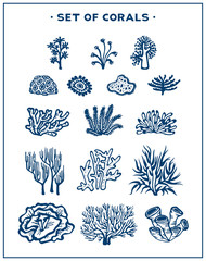 Set of vector corals.