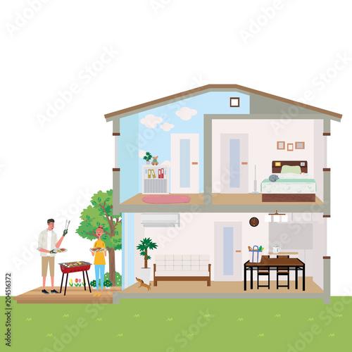 住宅 家 断面図 イラスト Fotoliacom の ストック画像とロイヤリティ
