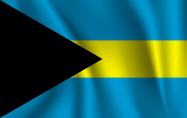 Waving flag of Bahamas, vector