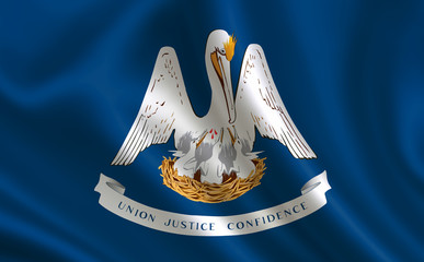 """Flag of the state Louisiana. A series of """"flags of the United States of America"""""""