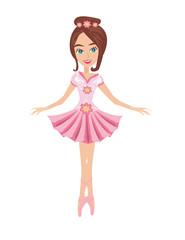 beautiful ballerina - isolated