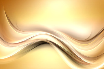 Gold modern bright waves art. Blurred pattern effect background. Abstract creative graphic. Web wallpaper conept.