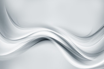 Wall Mural - White modern bright waves art. Blurred pattern effect background. Abstract creative graphic. Web wallpaper conept.