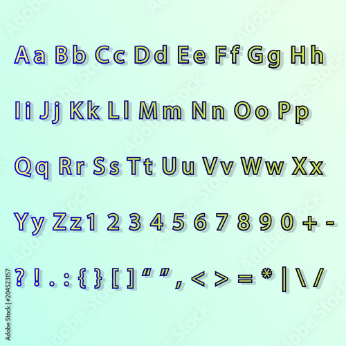 Letter & Number Set Commercial Use Vector