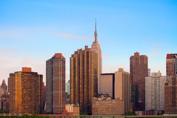 Skyline of buildings at Murray Hill, Manhattan, New York City, NY, USA