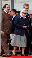 Britain's Queen Elizabeth and the King of Bahrain Hamad bin Isa Al Khalifa attend the Royal Windsor Horse Show, in Windsor