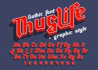 Thug Life - decorative font with graphic style