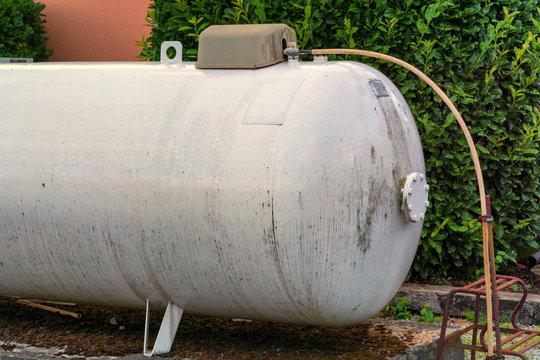 Large propane storage tank