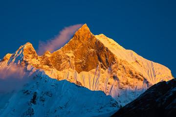Machapuchare (Fishtail Peak) - Mountain in Himalayas
