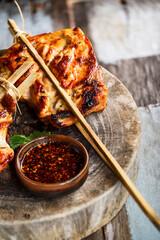 Poulet Grillé Thai au Barbecue or Poulet Kor Lae