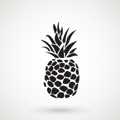 Pineapple tropical fruit icon . Flat vector object. Health symbol.