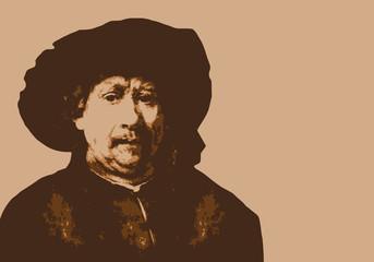 Rembrandt - peintre - portrait - personnage célèbre - artiste peintre - personnage - célèbre - peinture