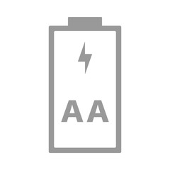 AA, R6 battery. Double A cell size. Vector icon.