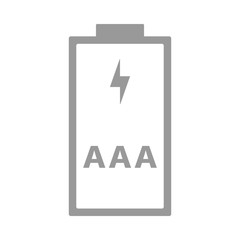AAA, R03 battery. Triple A cell size. Vector icon.