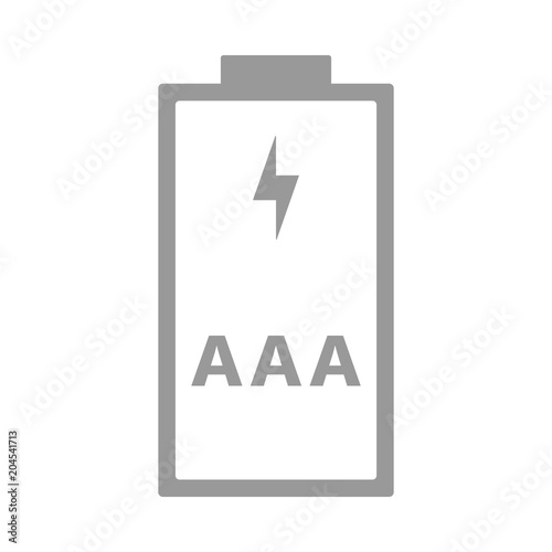 AAA, R03 battery  Triple A cell size  Vector icon