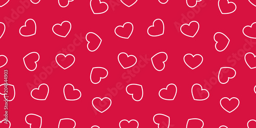 Heart Seamless Pattern Vector Valentine Day Isolated Love Icon