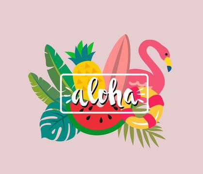 Tropical print Aloha