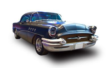Classic American Car. White background.