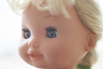 The face of the doll.
