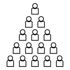 People pyramid icon black color illustration flat style simple image