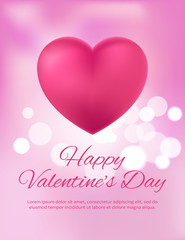 Happy Valentine s Day Postcard Vector Illustration