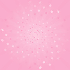 Abstract background. Soft Pink rays and stars background. Vector
