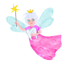3d rendered tooth fairy with teeth cartoon character isolated on white