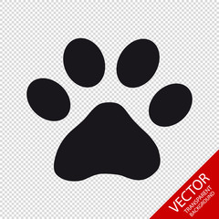 Animal Paw - Vector Illustration - Isolated On Transparent Background