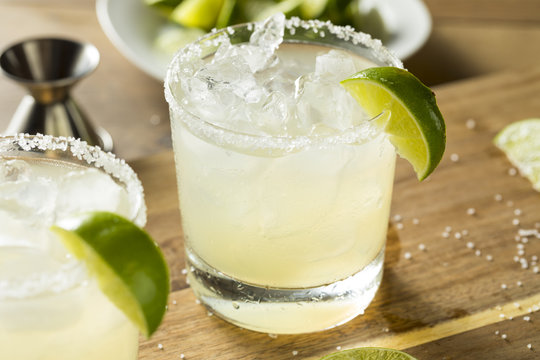 Alcoholic Lime Margarita with Tequila