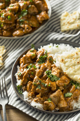 Homemade Indian Butter Chicken with Rice