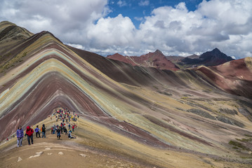 Poster Rainbow Mountain Hike with Horses and amazing landscapes