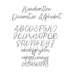 Calligraphy Alphabet. Exclusive Letters. Decorative handwritten brush font for: Wedding Monogram, Logo, Invitation.