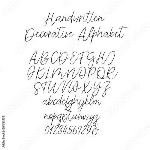 Calligraphy alphabet exclusive letters decorative handwritten exclusive letters decorative handwritten brush font for wedding monogram logo stopboris Gallery
