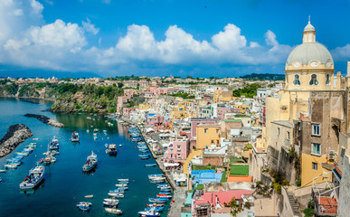 Wall Mural - Picturesque Island of Procida,Gulf of Naples, Italy