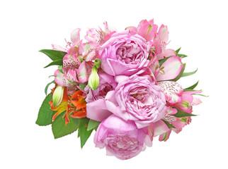 アルストロメリアと薔薇の花束