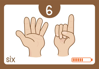 Flashcard number-6