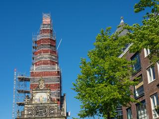 Die Stadt Alkmaar in den Niederlanden
